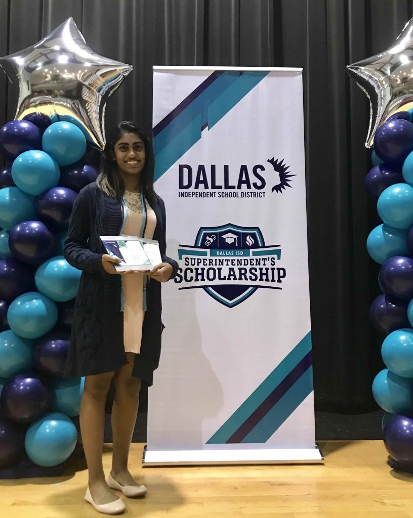 Sasha Thomas 2018 Dallas Isd Scholarship