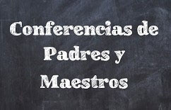 Parent Teacher Conference Chalkboard Graphic Spanish