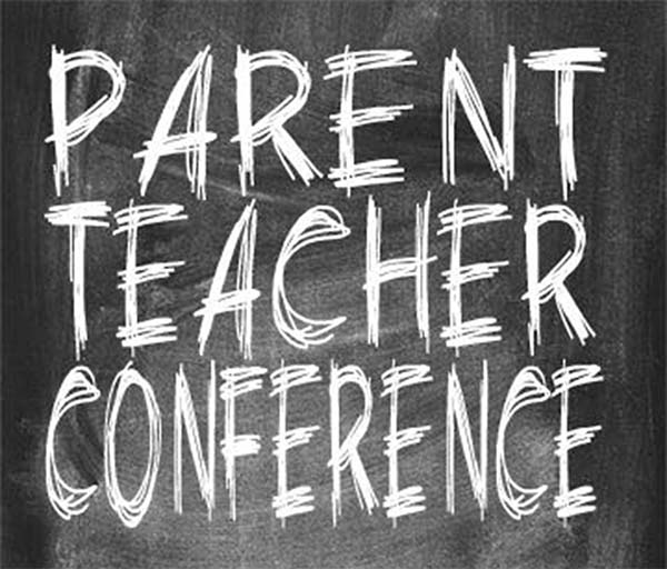 Parent Teacher Conference Chalkboard Graphic