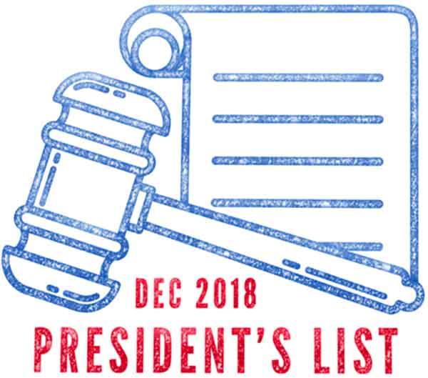 Texas PTA 2018 President's List Award ~ Premio Lista